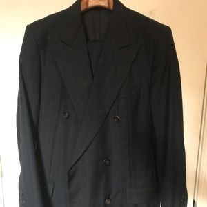 Hickey Freeman double breasted 6 button suit